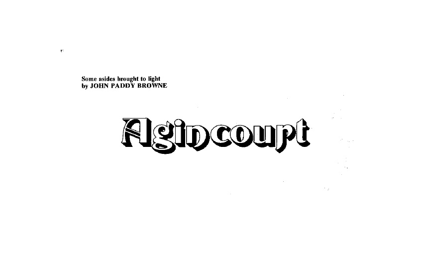 'Agincourt' – From a 1978 edition of Folk Review
