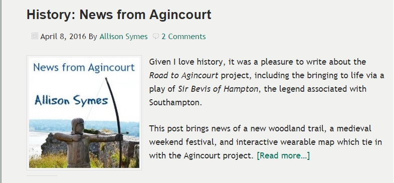 Agincourt News from Chandler's Ford Today